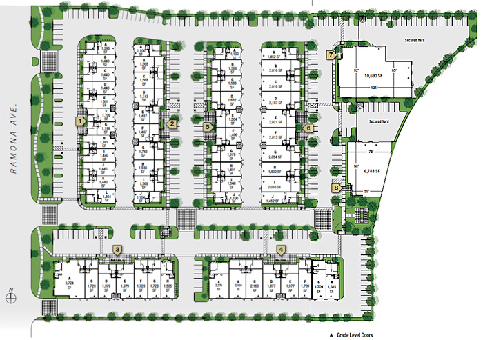 Butterfield business park chino ca for lease office for Warehouse building plans